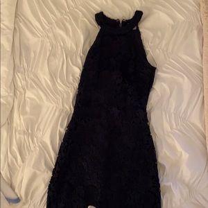 Lulus navy halter lace dress